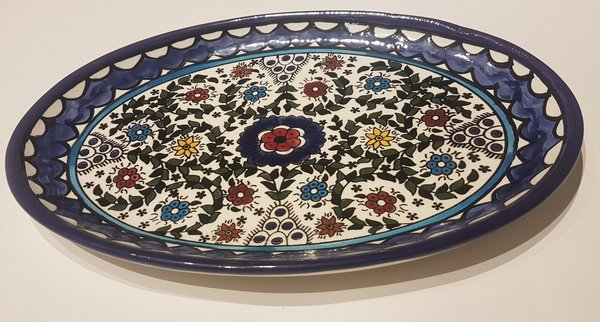 Decorated Oval Plate (27cm)