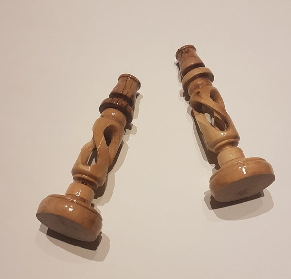 Olivewood Candle Sticks (Small Pair)